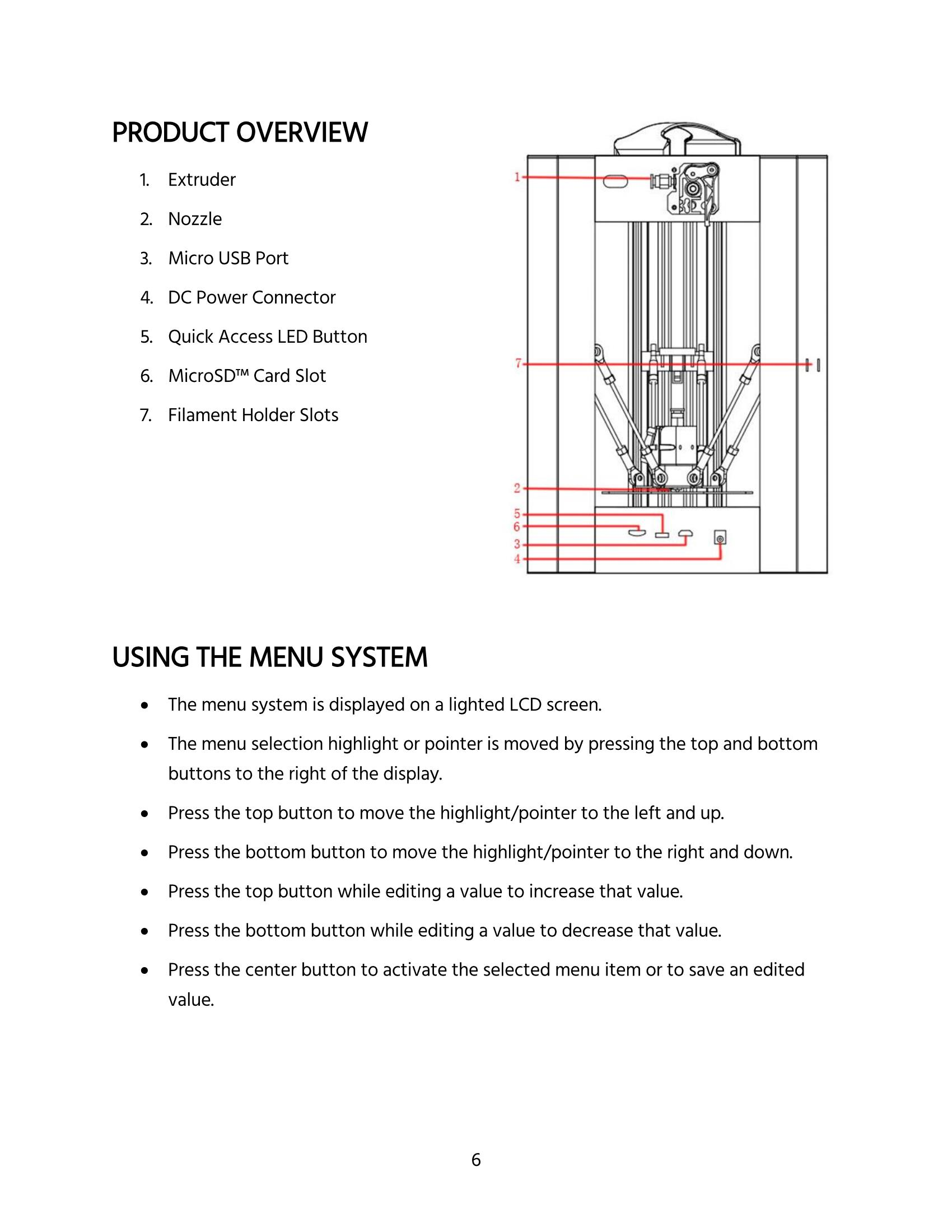 MP Mini Delta User's Manual - Page 6